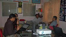 visitors from Azim premji university